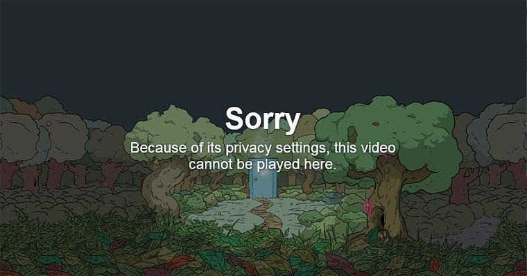 Vimeo Sorry Page