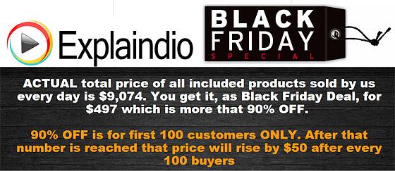 Explaindio Black Friday Sale