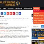 Email List Building Techniques Site Menu
