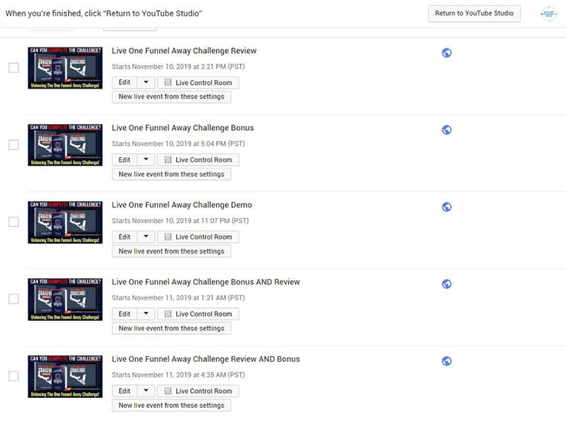YouTube Livesteams