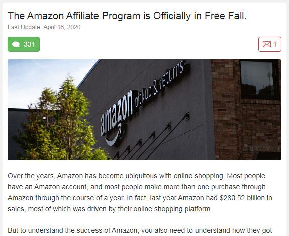 Amazon Associates Update