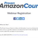 Proven Amazon Course June Webinar